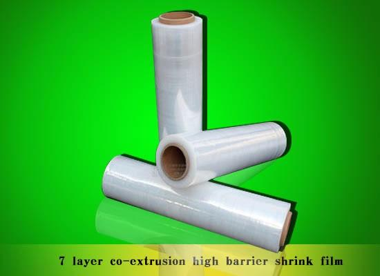 7 layer co-extrusion high barrier shrink film